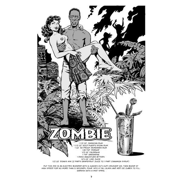 Tiki Surf Witches Zombie Cocktail