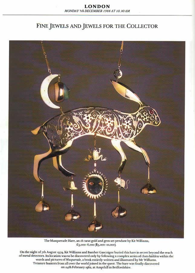 armchair treasure hunt golden hare sothebys auction